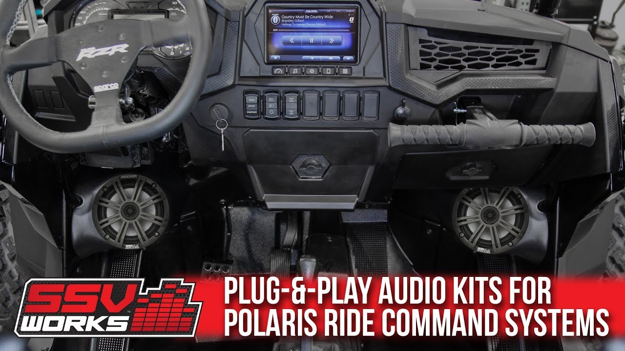Rzr Xp 1000 >> SSV Works Audio Kits for Polaris Ride Command Systems ...