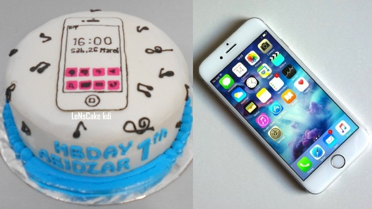 iPhone Cake Tutorial Simple YouTube