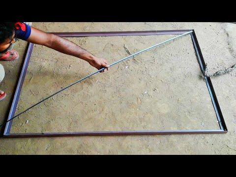 how to make window frame whit iron   Fabrication work   metal work