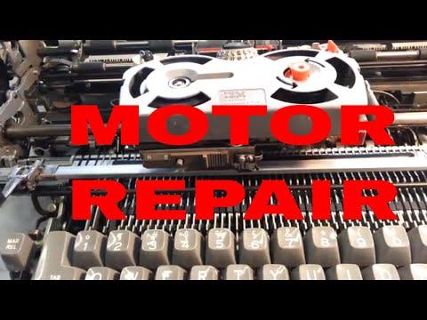IBM Selectric Typewriter Motor Repair Flush Bearings Lube & Oil Adjust Belt