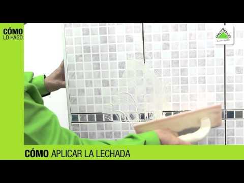 Cómo rellenar las juntas de los azulejos (Leroy Merlin)
