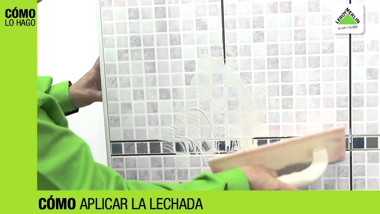 C mo rellenar las juntas de los azulejos leroy merlin youtube - Juntas azulejos ...