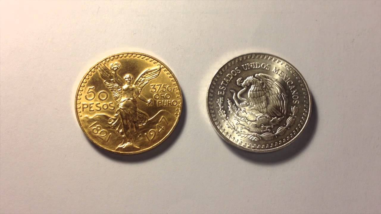 Mexican Gold 50 Pesos Coin Gold Silver Ratio Discussion Youtube