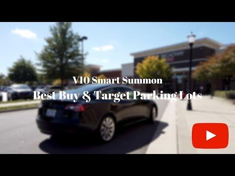 Tesla Smart Summon in Best Buy and Target Parking Lots - Software Version 2019.32.12.1