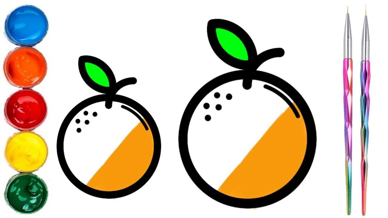 Como dibujar y colorear naranjas dibujos f ciles para - Como conseguir color naranja ...