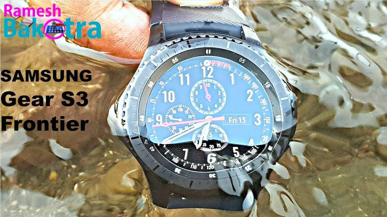 wholesale dealer 340ad e0389 Samsung Gear S3 Frontier Water Test