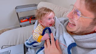 BABY LAUGHS FOR THE FIRST TIME! (hates dad)