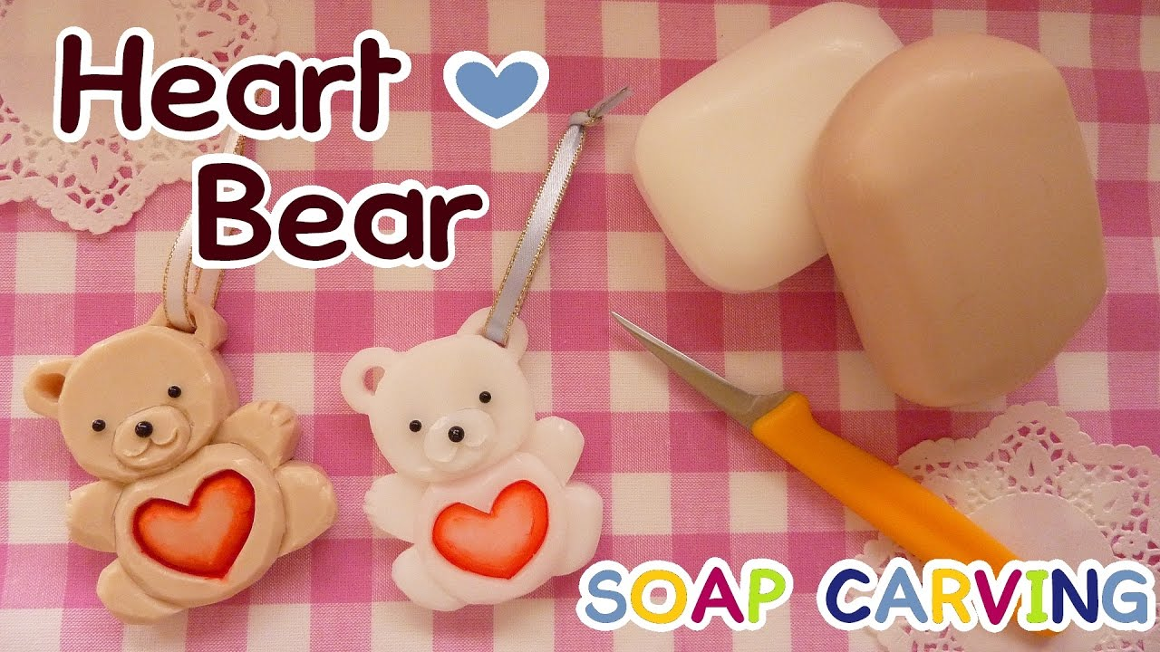 Soap carving easy heart bear corazn oso how to make real soap carving easy heart bear corazn oso how to make real carving sound diy youtube maxwellsz