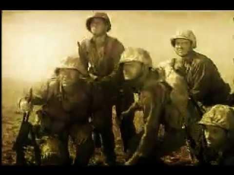 The Flag raising over the Sands of Iwo Jima - The John Wayne film