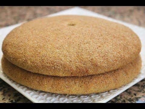 خبز القمح الكامل بلا دليكك (بدون عجن )        pain au blé complete sans petrissage