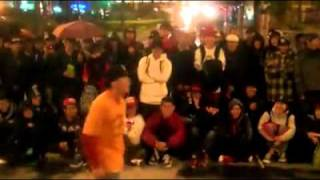 Bboy BORN(RIVERS) vs Bboy WHACKO(FWR) Culture Shock Taiwan Up-Rock Battle Final 2011