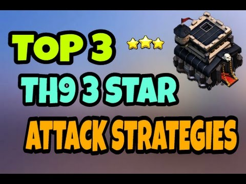 Thumbnail: BEST TOP 3 TH9 3 STAR ATTACK STRATEGIES 2017 || CLASH OF CLANS 2017