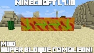 Minecraft 1.7.10 MOD SUPER BLOQUES CAMALEÓN! Chameleon Blocks Mod Español!