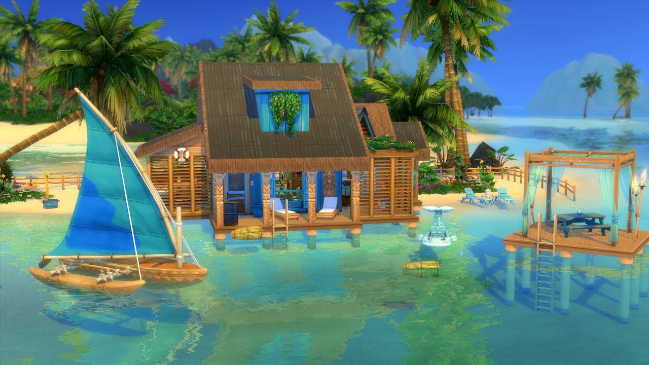 THE SIMS 4: ISLAND LIVING // OFF THE GRID HOUSE + GIVEAWAY ...