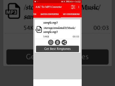 How to convert AAC To Mp3 On Android