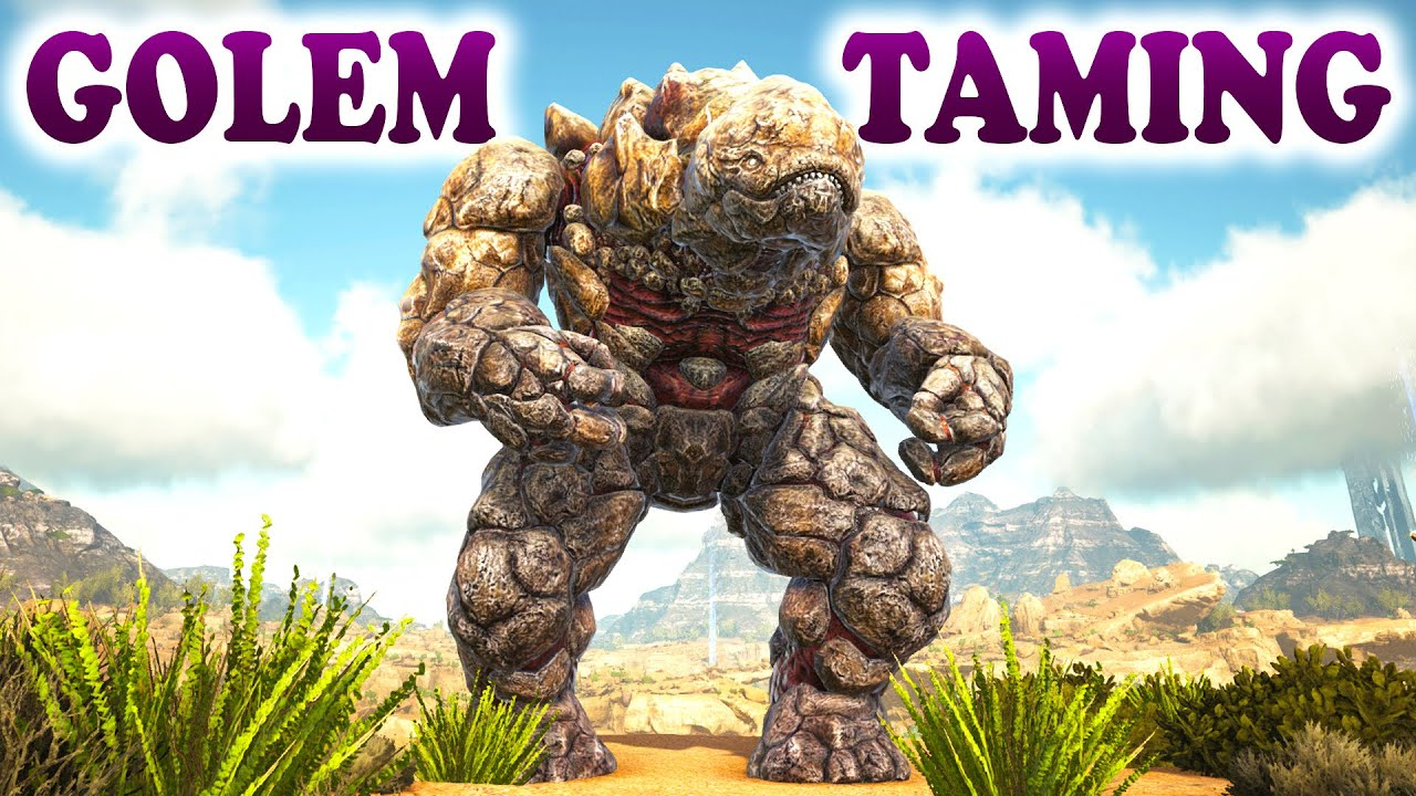ARK - HOW TO TAME A ROCK ELEMENTAL GOLEM - ARK Survival Evolved Scorched  Earth Taming Gameplay