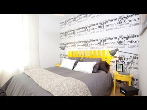 Decorar dormitorio con papel pintado alegre y juvenil - Decogarden
