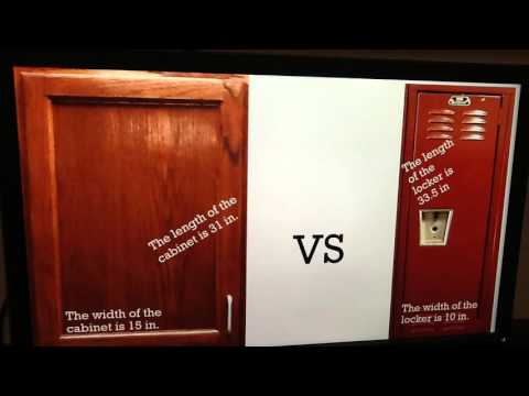 MATH IN THE REAL WORLD:  Compare Area of Lockers & Cabinets