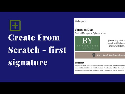 Create from scratch your first HTML email signature