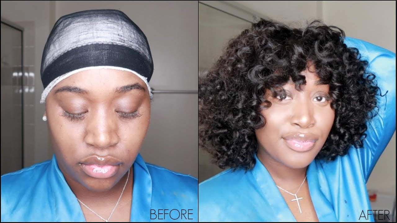 removable quickweave curly bob | unice hair