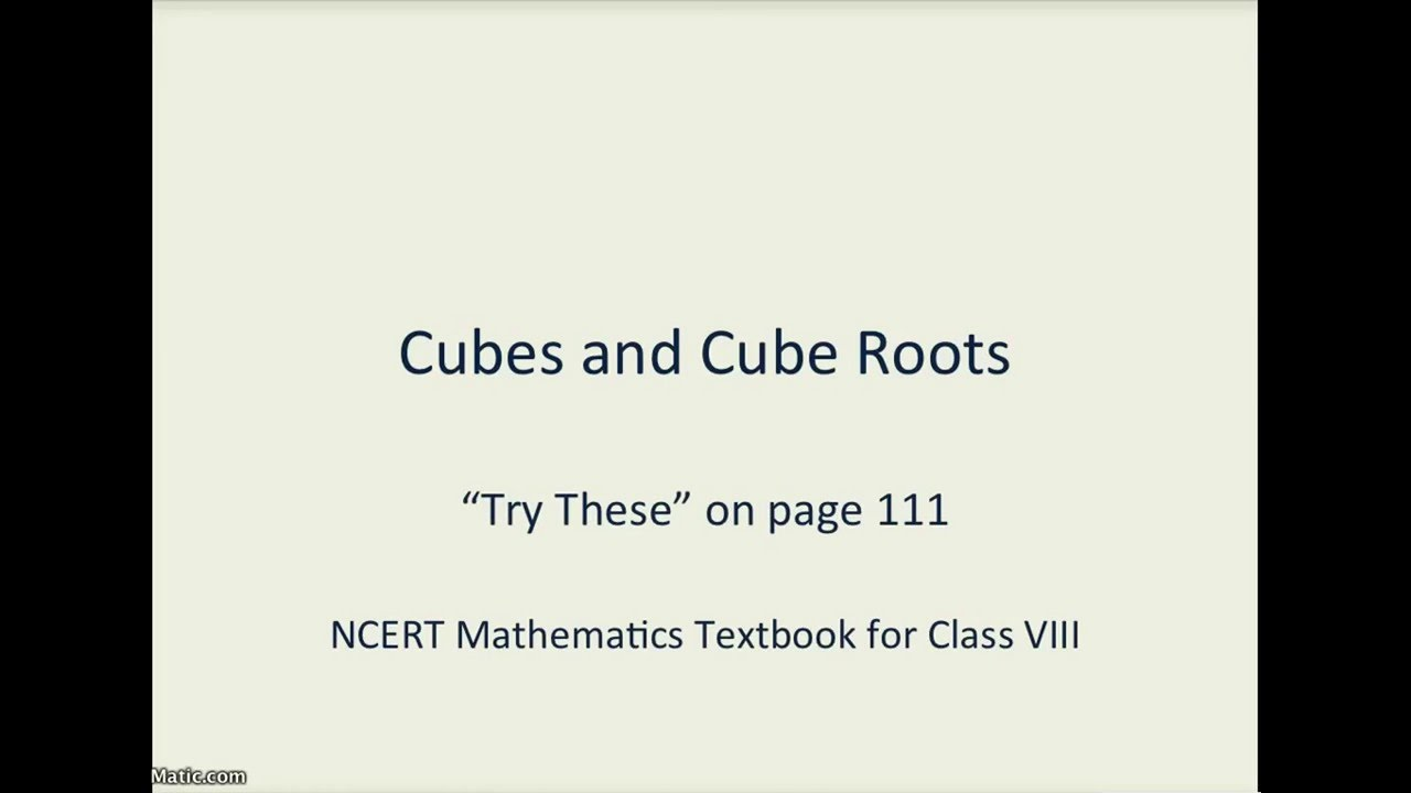 Math :: NCERT :: Class 8 :: Ch 7 Cubes & Cube Roots :: Page 111 -