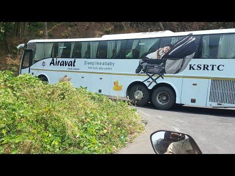 KSRTC VOLVO B9R extreme Drive in wayanad ghat!!!