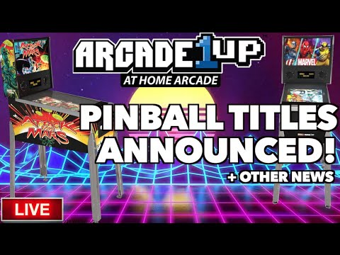 Arcade1Up Pinball Tables Info Released! Plus a Sit Down OutRun Cabinet Leaked!? (LIVE!) from Killer Arcade Games