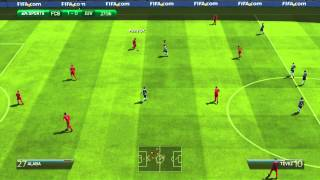 FIFA 14 Gameplay- Filthy fouls, red cards and Goals!