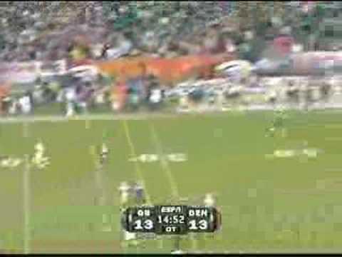 Brett Farve's Game Winning Touchdown Against Broncos