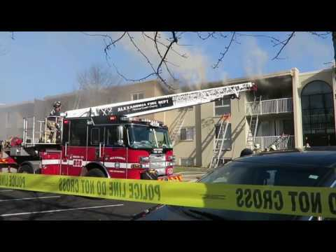 Working 3 ALARM Apartment Fire - Fairfax County, VA