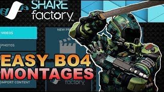 How to Make EASY BO4 Montages ON THE PS4 (Sharefactory + Theater)