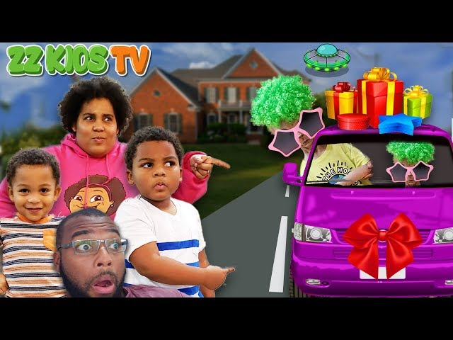 Space Dude Invades Our Christmas Presents & Car! ☃️🎁🎄(Is Christmas Over?)