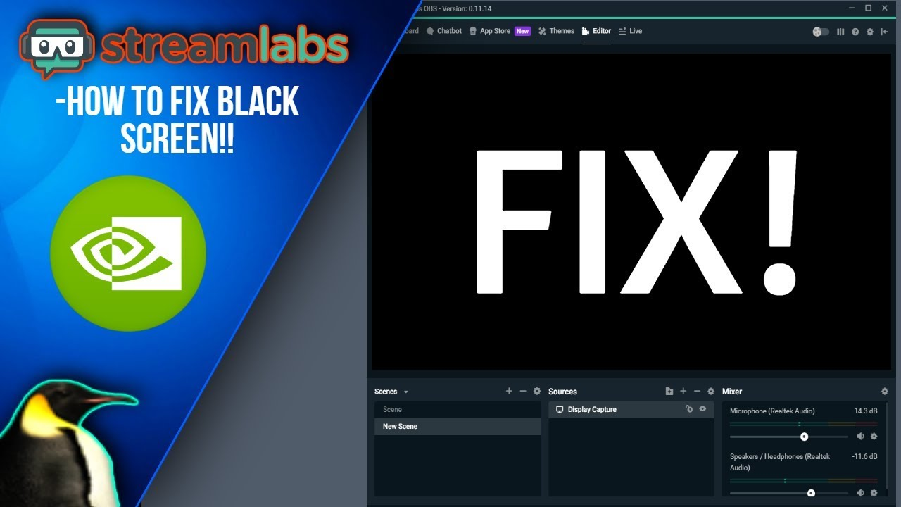 How to fix StreamLabs OBS black screen! (DISPLAY CAPTURE)