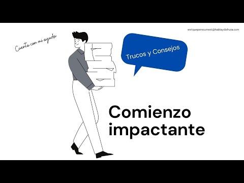 COMIENZOS IMPACTANTES EN CHARLAS Y PRESENTACIONES