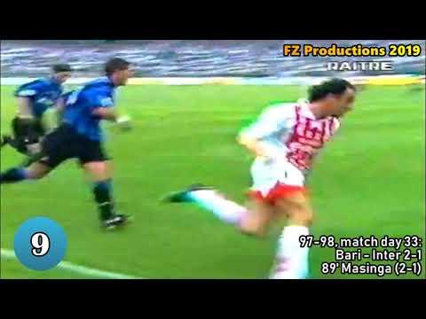 Phil Masinga - 24 Goals In Serie A (Bari 1997-2001)