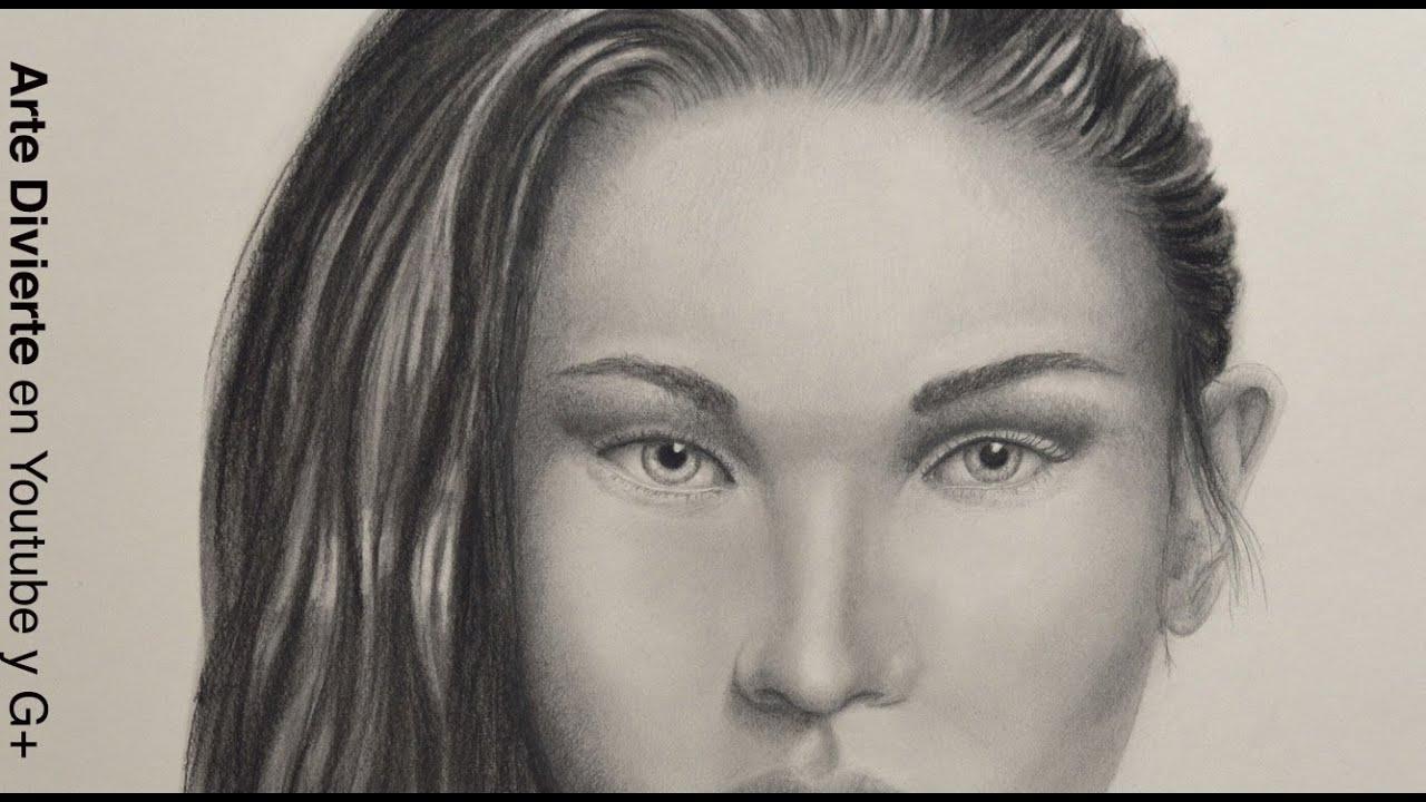 Cómo dibujar una cara realista con carboncillo y lápiz - Arte ...
