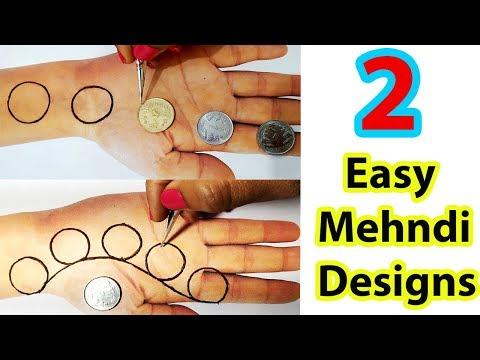 Beautiful Mehndi Designs - New, Easy Mehndi Trick from Coin - सुंदर मेहँदी लगाने का आसान तरीका