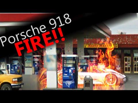 porsche 918 spyder on fire in canada 9 28 youtube. Black Bedroom Furniture Sets. Home Design Ideas