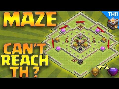 Maze Coc Th11 Farming Base 6
