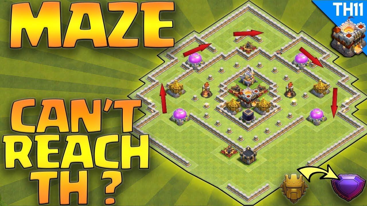 Maze Coc Th11 Farming Base 1