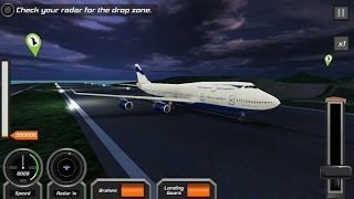Fight PIlot Simulator Boeing 747 Perfected Landed Night Mission