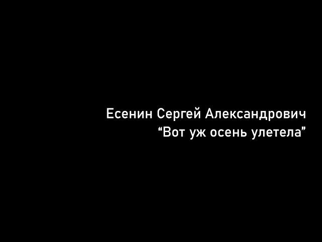Изображение предпросмотра прочтения – МихаилПолянцев читает произведение «Вот уж осень улетела» С.А.Есенина