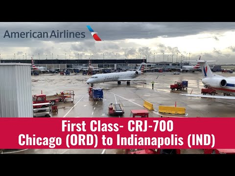 American Eagle | CRJ-700 | First Class | Chicago To Indianapolis