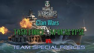 World Of Warships Clan Battles - APOC Vs TSF Match 4 And 5 - TIRPOCOLYPSE