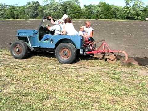 Farm Jeep Plowing Field Youtube