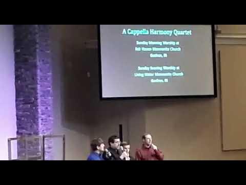 Acapella harmony quartet singing at 2018 ags