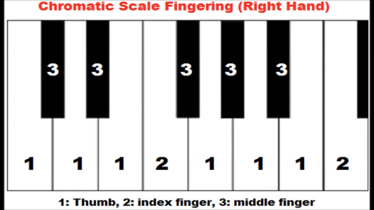 How to play chromatic scale on piano left and right hand how to play chromatic scale on piano left and right hand fingering youtube hexwebz Gallery
