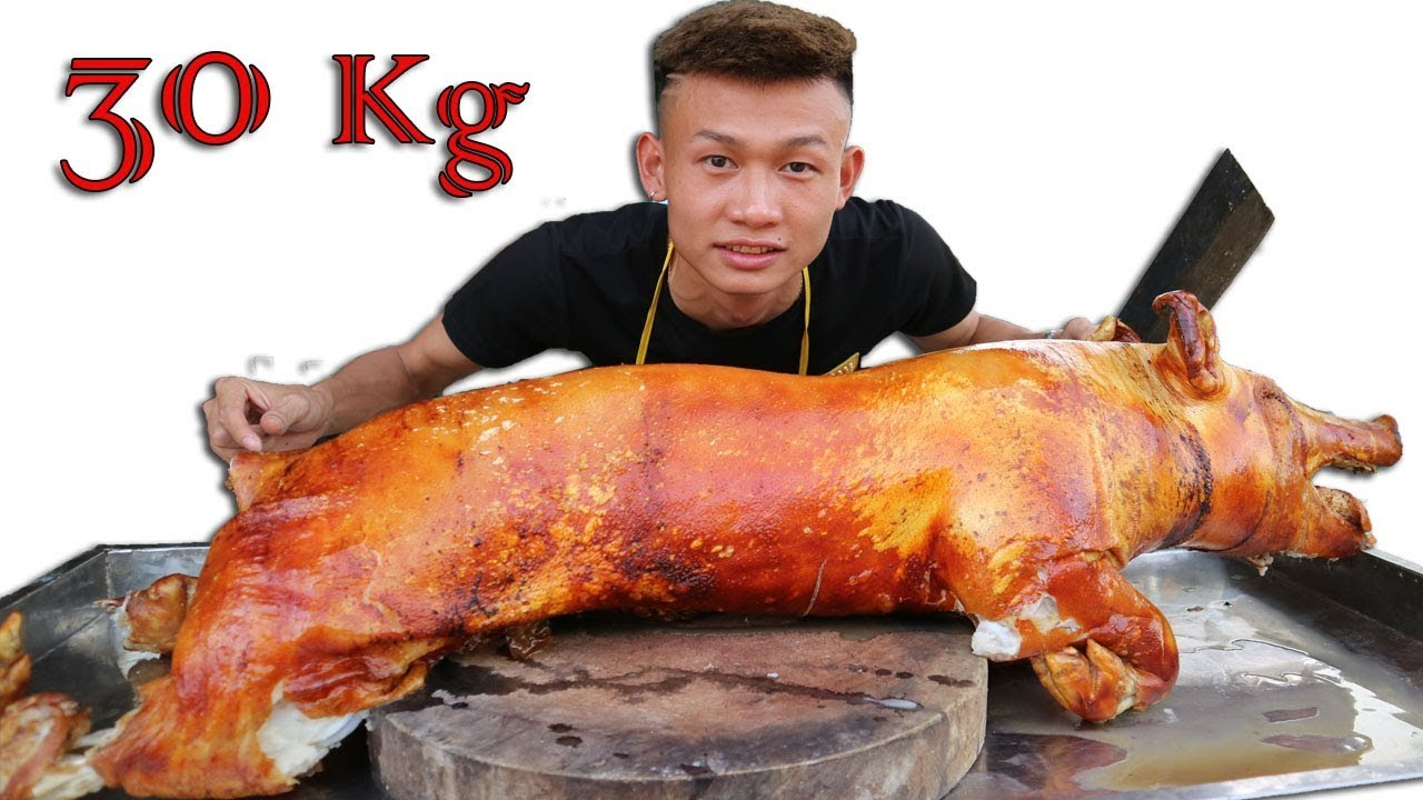 1 FOOD | Lợn Quay 30Kg Cực Ngon và Giòn tan