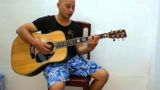 Thanh pho sau lung guitar