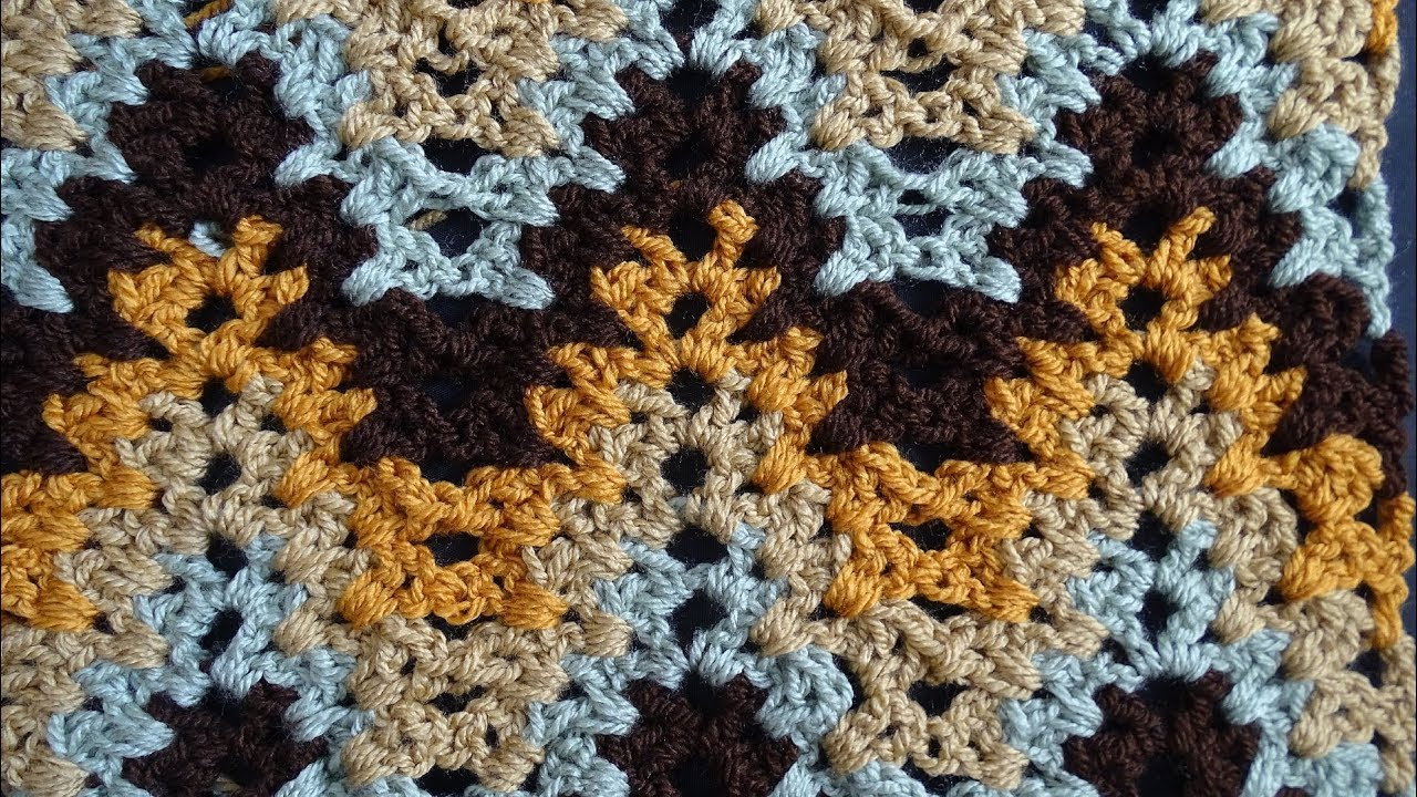 Granny Ripple Stitch Tutorial: V Stitch Ripple Crochet Stitch
